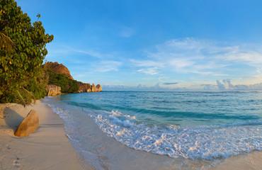 Tropical beach Source D'Argent at Seychelles