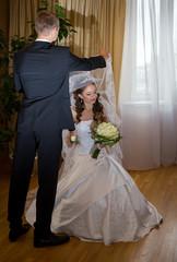 groom meets bride