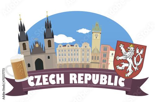 Fototapeta Czech republic. Tourism and travel