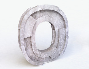 Stone Letter O in 3D