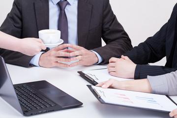Coffee on business meeting