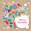 Zdjęcia na płótnie, fototapety, obrazy : Merry Christmas and Happy New Year invitation card.