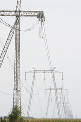 High voltage electricity transport infrastructure