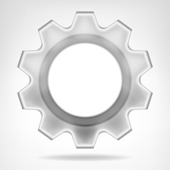 gear wheel inner text space template isolated
