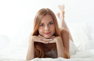 Woman's morning in bed