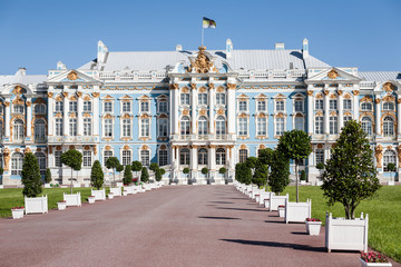 Catherine palace in Tzarskoe Selo (Pushkin), Russia