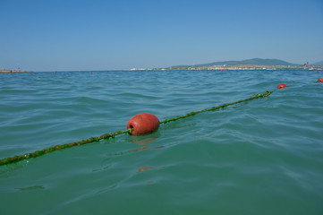 line buoy on the sea