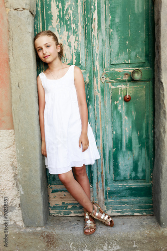 canvas print picture Portrait of lovely girl