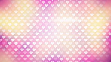 polka dot hearts loopable background