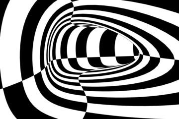 Abstrakte Formen in schwarz und weiß