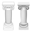 ionic column style perspective view isolated