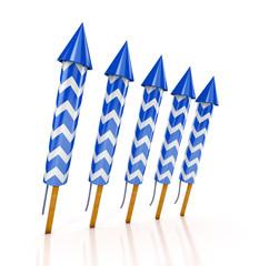 blue rockets firework