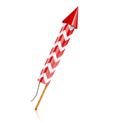 red rocket firework