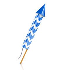 blue rocket firework
