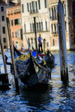 Venice, Italy - Gondolier and historic tenements poster