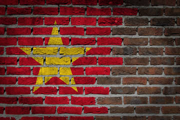 Dark brick wall - Vietnam