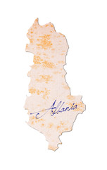 Old paper with handwriting - Albania