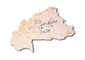 Old paper with handwriting - Burkina Faso