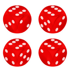 round red dice object set isolated