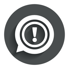 Exclamation mark sign icon. Attention symbol.
