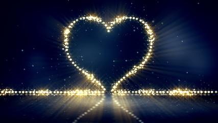 heart shape christmas lights loop background