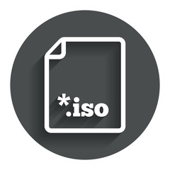 File ISO icon. Download virtual drive file.