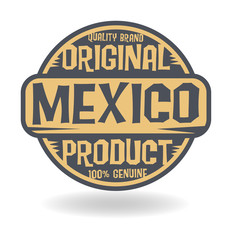 Abstract stamp with text Original Product of Mexico