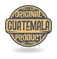 Abstract stamp with text Original Product of Guatemala