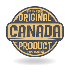 Abstract stamp with text Original Product of Canada