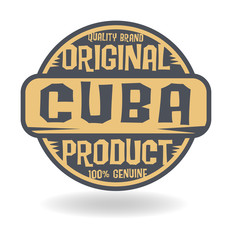 Abstract stamp with text Original Product of Cuba