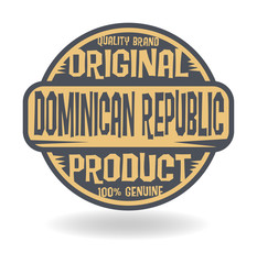Abstract stamp with text Original Product of Dominican Republic