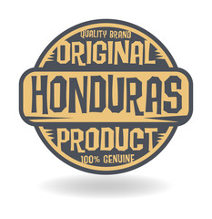 Abstract stamp with text Original Product of Honduras