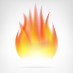 hot fire flame isolated vector