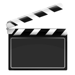 blank open movie flap object  isolated