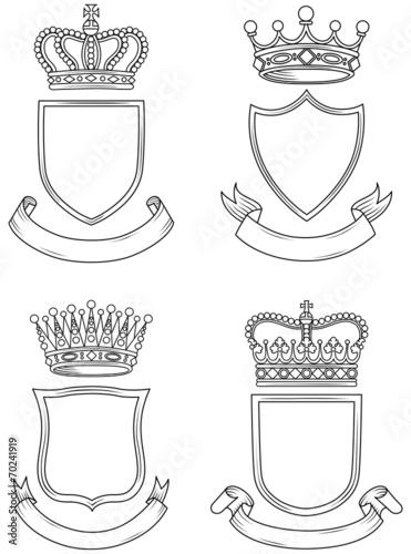 Shield, Banner, and Crown Set - 70241919