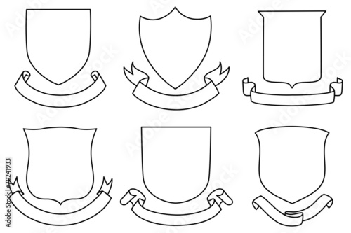 Shields and Banners Set - 70241933
