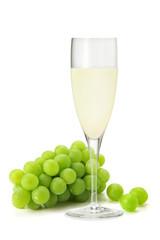 葡萄と葡萄ジュース