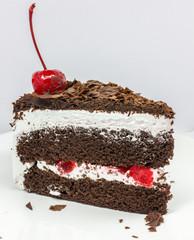 isolated chocolate cake