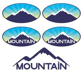 Vector signs. Mountain.