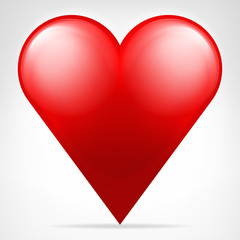 classic red heart icon isolated vector