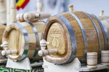 Barrels for storing various beverages