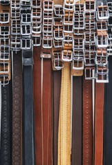The group straps in a store