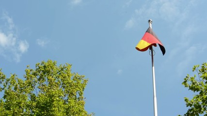 German (Federal Republic of Germany) flag - trees-sunny