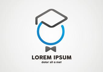 graduate sucsess in education logo vector