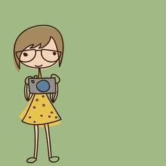 Девочка с фотоаппаратом