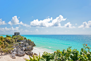Tulum Ruins by the Caribbean Sea
