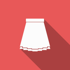 skirt icon with long shadow