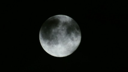 Scary Full Moon in a Cloudy Night