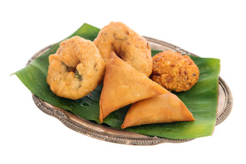 Traditional Indian snack starter