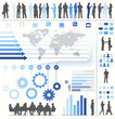Vector of Business Infographics with Symbols and Charts
